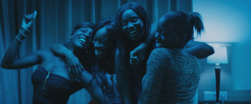 (L to R) Assa Sylla, Lindsay Karamoh, Karidja Touré and Mariétou Touré in Céline Sciamma's GIRLHOOD