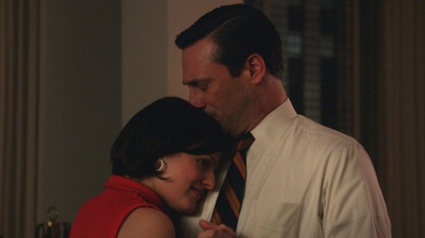 Elisabeth Moss as Peggy Olson and Jon Hamm as Don Draper - Mad Men _ Season 7, Episode 6 - Photo Credit: Courtesy of AMC