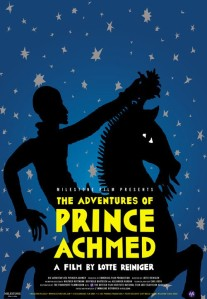 Poster for The Adventures of Prince Achmed. Still courtesy of Milestone Films.