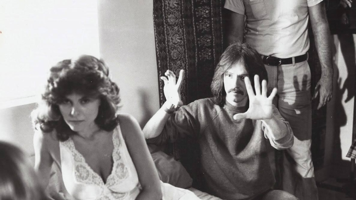 John Carpenter on set of 'The Fog'