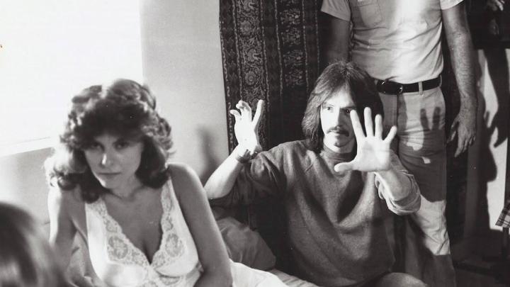 John Carpenter on set of 'The Fog'