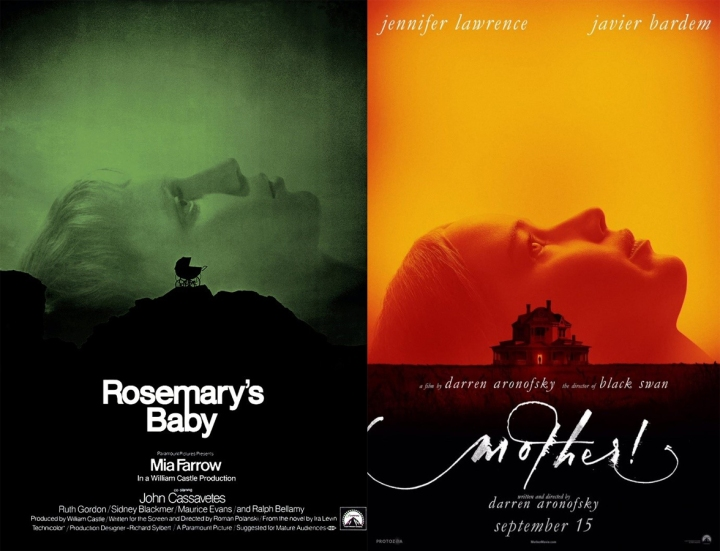 Rosemary's Baby and Mother! Poster Comparison