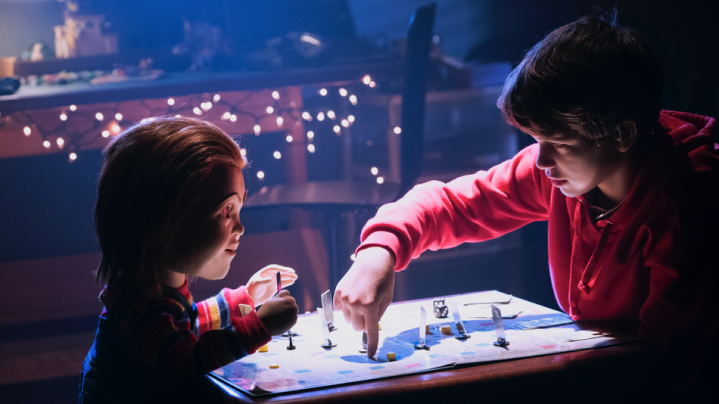 Mark Hamill (voice) and Gabriel Bateman in Child's Play