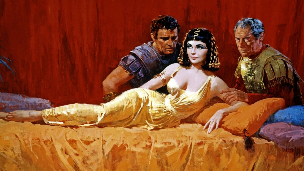 Poster of 1963's Cleopatra starring Elizabeth Taylor, Richard Burton, and Rex Harrison